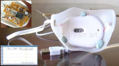 eye mask fitted with optical mouse assembly